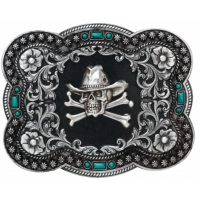 Scull and Cross Bone Buckle