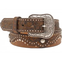 Ariat Brown Embossed Leather Belt