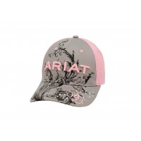 Ariat Pink/Gray Baseball Cap