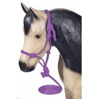 Shetty - Mini Knotenhalfter mit Strick violett