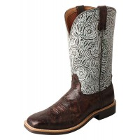 Top Hand Boot WTH0015 brown / turquoise print