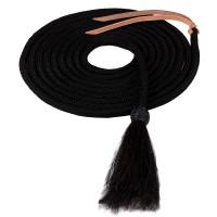 Nylon Mecate with Horsehair Tassel black