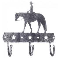 Garderobenhaken Pleasure Rider 3-fach schwarz silber