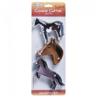 3 Piece Cookie Cutter - Horses