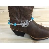 Türkis Stiefelkette mit Stern auf Flügel