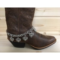 Heart Charm Boot Bracelet