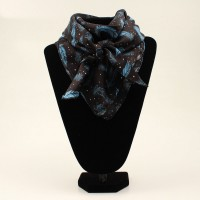 Scarf Feather Blue