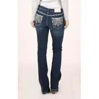 Aztec Embroidered Bootcut Jeans