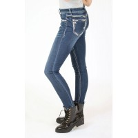 Arrow Border Skinny Jeans
