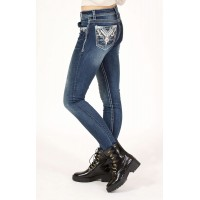 Aztec Embellished Skinny Jeans