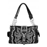 Handbag Black Embroidery