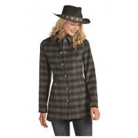 Twill Plaid Coat