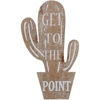 Wooden Cactus Point Sign