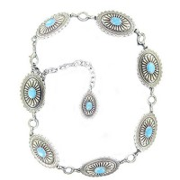 Ariat Concho Turquoise Stone Belt