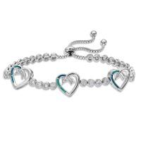 Opal Heart Bolo Bracelet