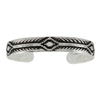 Antiqued Aztec Cuff Bracelet