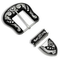 3-teiliges Gurtschnallenset - Beads&Scrolls