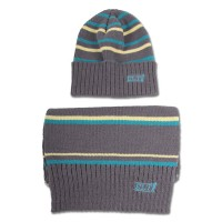 Knitted Cap and Scarf Set