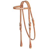 Headstall with Rawhide Braiding