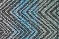 Pad pattern H25 chevron blue